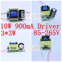 3X3W Led Driver 3 3W Driver For 10W Led Chip 900mA 6W 9Wdriver 85 265V Input