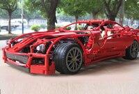 Decool Model building kits compatible with lego city Ferrari 599GTB 844 3D blocks Educational toys hobbies for children 005