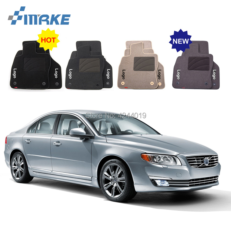 For Volvo S80 Car Floor Mats Front Rear Carpet Complete Set Liner All Weather Waterproof Customized Car Styling for honda fit car floor mats front rear carpet complete set liner all weather waterproof customized car styling
