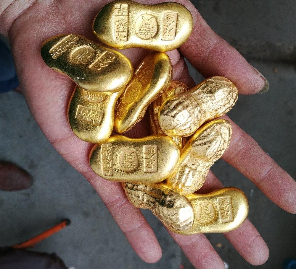 Китайский слиток золота фото