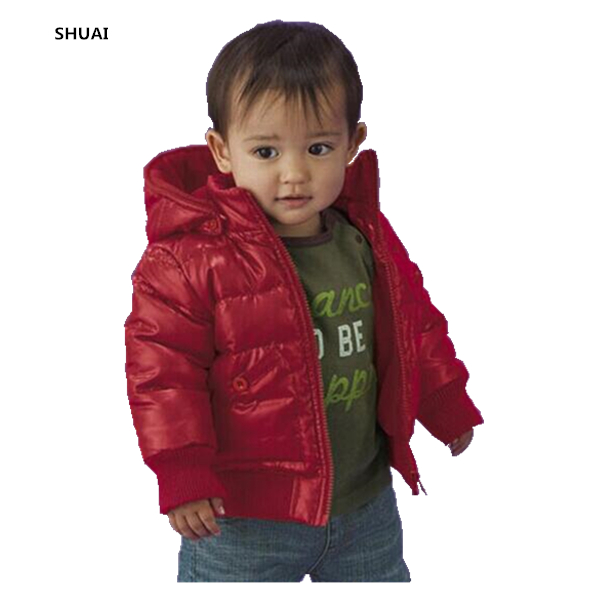 New Baby <font><b>Boys</b></font> Jacket Kids Winter Thick Warm Cotton Padded Solid Color Hooded Coat Children Outerwear Clothing In Sotck Hot Sale
