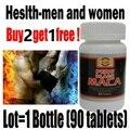 Comprar 2 get 1 garrafa de frete! o Poder do homem Preto pó de raiz de Maca 100% orgânico Puro extrato de maca maca Peruana preto cuidados de saúde para o homem