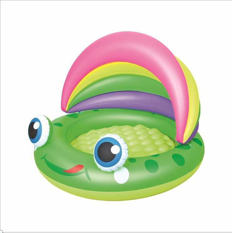 52188 Bestway 109x104x76cm Inflatable Froggy Play Pool/43x41x30 Baby Paddling Pool/Frog Baby Bath Pool with Inflatable Bottom