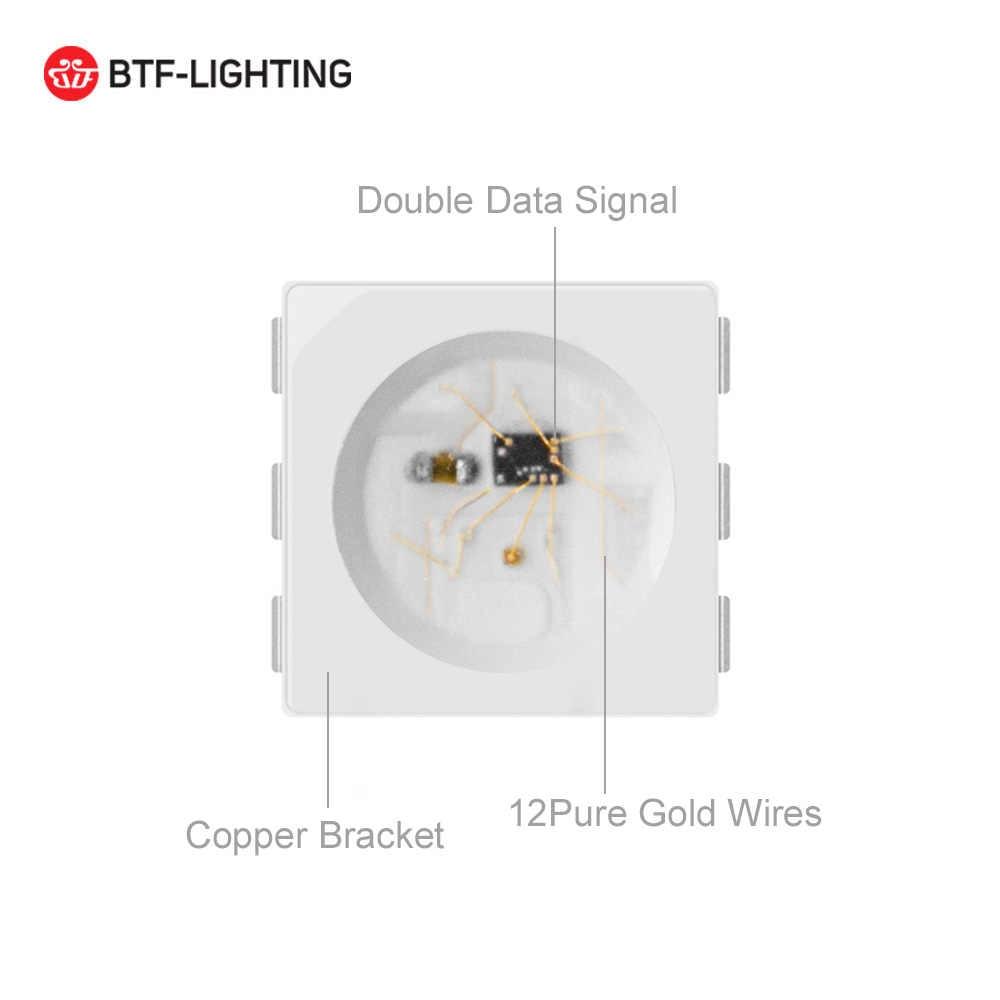 1 м/4 м/5 м WS2813 двойной сигнал 30/60/100/144 светодиодов/м индивидуально RGB Светодиодные полосы WS2812B обновленный черный/белый PCB IP30/65/67 DC5V