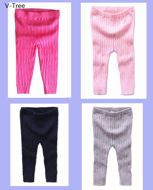 Bebé Caliente Giro de Punto de Algodón Pantalones Leggings Pantalones Para Niños de Las Muchachas Suavemente Estirar Ropa Interior Para Los Niños Embroma El Envío Libre