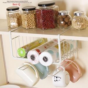 Image 2 - Étagère de rangement pour placard, panier suspendu multicouche, armoire de cuisine pour le dortoir