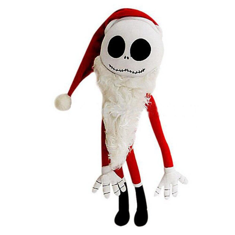 Rare Nightmare Before Christmas Santa Jack Skellington Plush Doll ...