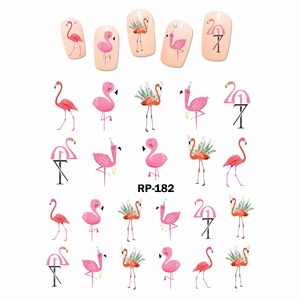 Image 4 - NAIL ART BEAUTY NAIL STICKER WATER DECAL SLIDER CARTOON CUTE BIRD PARROT FLAMINGO OWL FEATHER RP175 180
