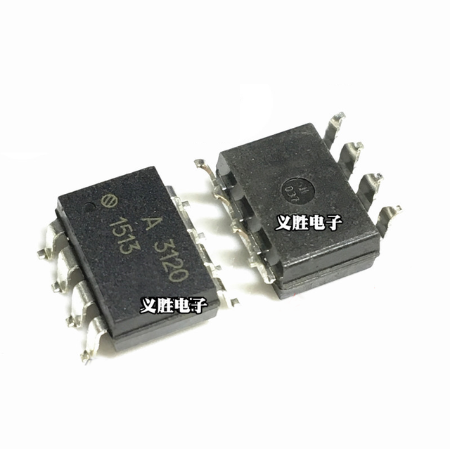 US $0 22 10% OFF|1pcs A3120 HCPL3120 HCPL 3120 SOP8 Chip IGBT drive  optocoupler-in Integrated Circuits from Electronic Components & Supplies on