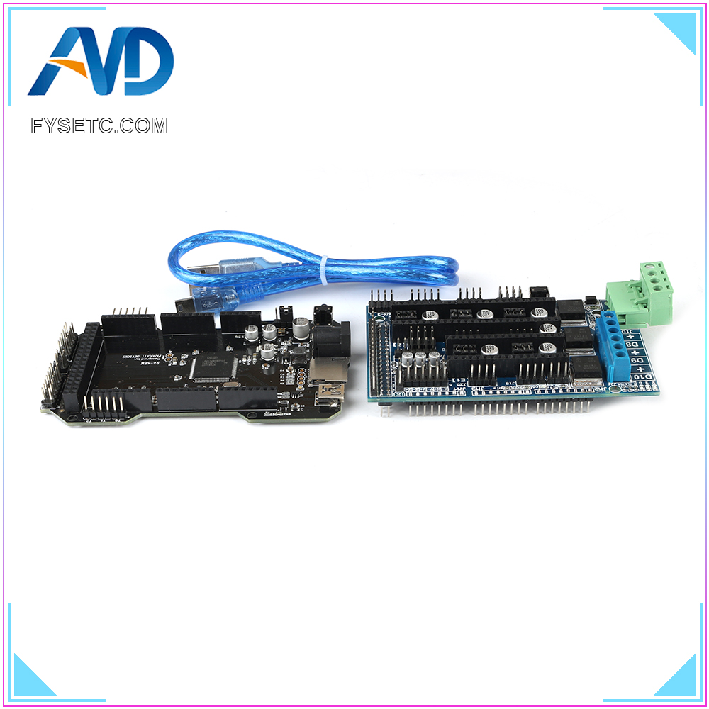 3D Printer Parts RE ARM 32 Bit Control Board Upgrade Mega 2560 R3 Motherboard + Ramps 1.5 Expansion Control Panel|3D Printer Parts & Accessories| |  - title=
