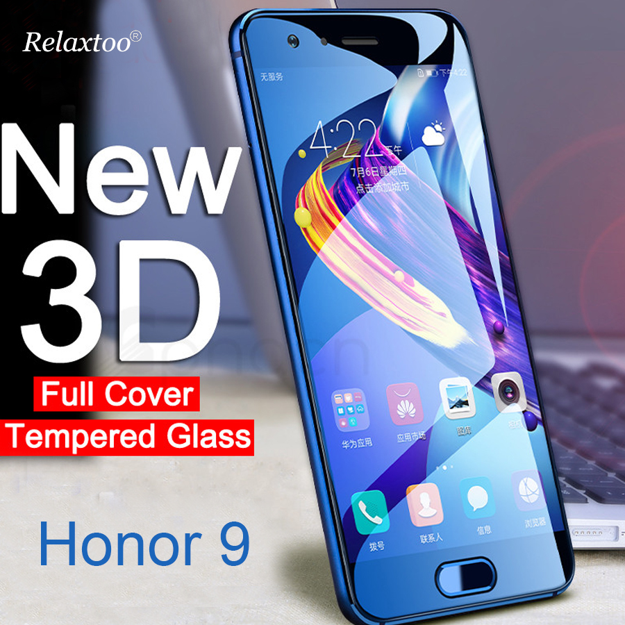 honor 9 Glass 3D Tempered Glass Screen Protector For Huawei Honor 9 Dual SIM STF-L09 STF-AL00 STF-AL10 honor9 Film Cover 5.15