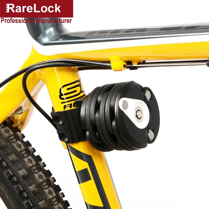 Rarelock MMS440 4 Colors Hamburger Folding Bicycle Motorcycle Lock for Outdoor Travel Sport Vehicle Car Accessory Hardware