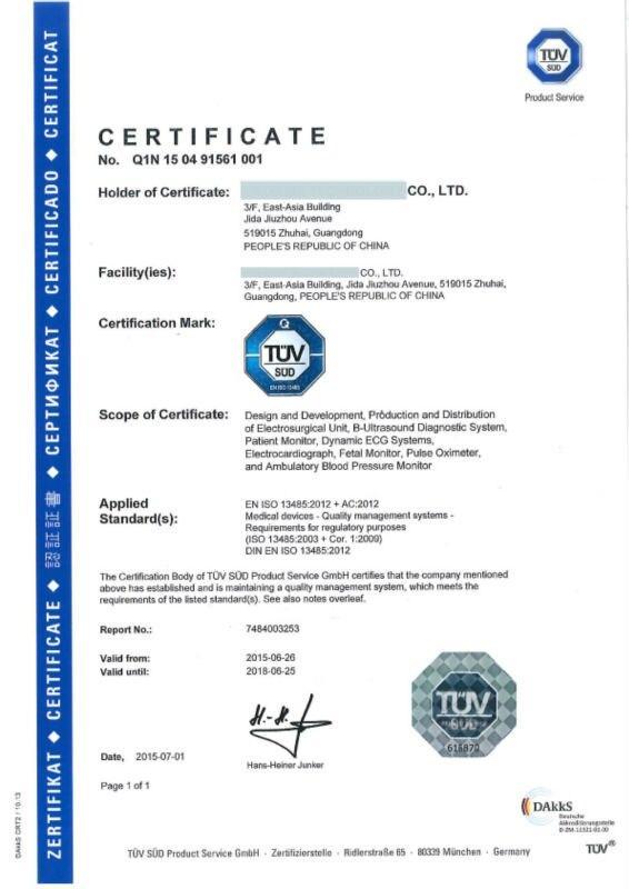 ISO 13485  Q1N 15 04 91561 001-1