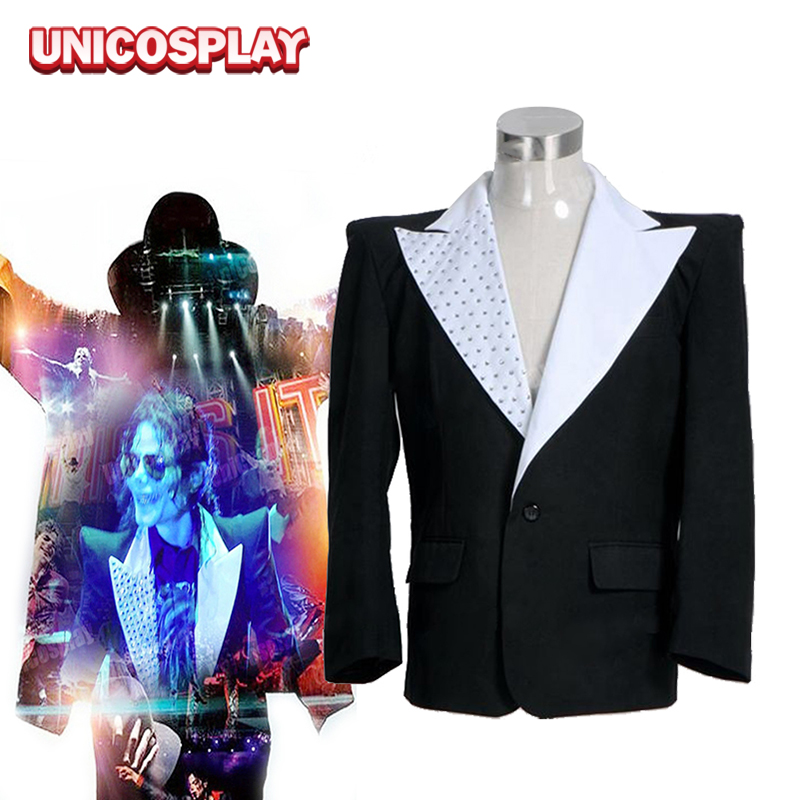 Michael Jackson This Is It Jacket Cosplay Costumes Men's Blazer Black Suits
