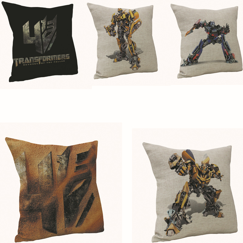 Transformer Super Hero Luxurious Pillow Cover Scandinavian Style Car Cushion Cover Christmas Decoration for Home Kids Gift PC367