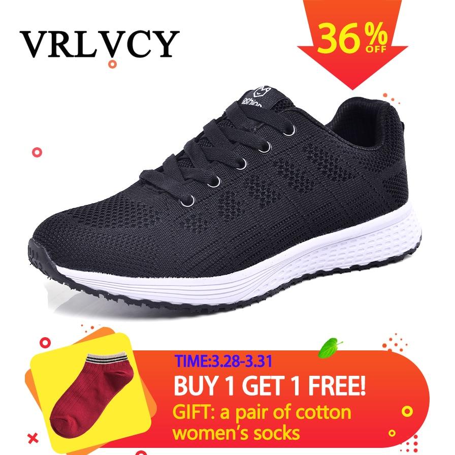 Women casual shoes fashion breathable Walking mesh lace up flat shoes sneakers women 2018 tenis femi