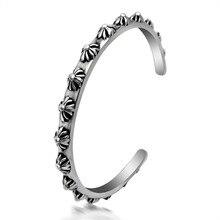 Fashion jewelry titanium steel bracelet,Cross open bracelet punk jewelry.Titanium steel jewelry bangles