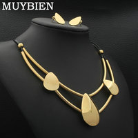 MUYBIEN New Individuality Jewelry Sets for Women Stainless Steel Necklaces Earrings Sets Lovely Jewelry SGGKAGCI