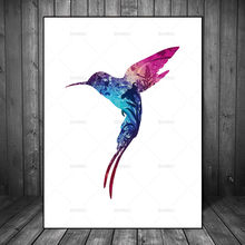 Wall Pictures Scandinavian Canvas Painting Bird Natural Nordic Abstract Flower Living Room Art Decoration Pictures No Frame(China)