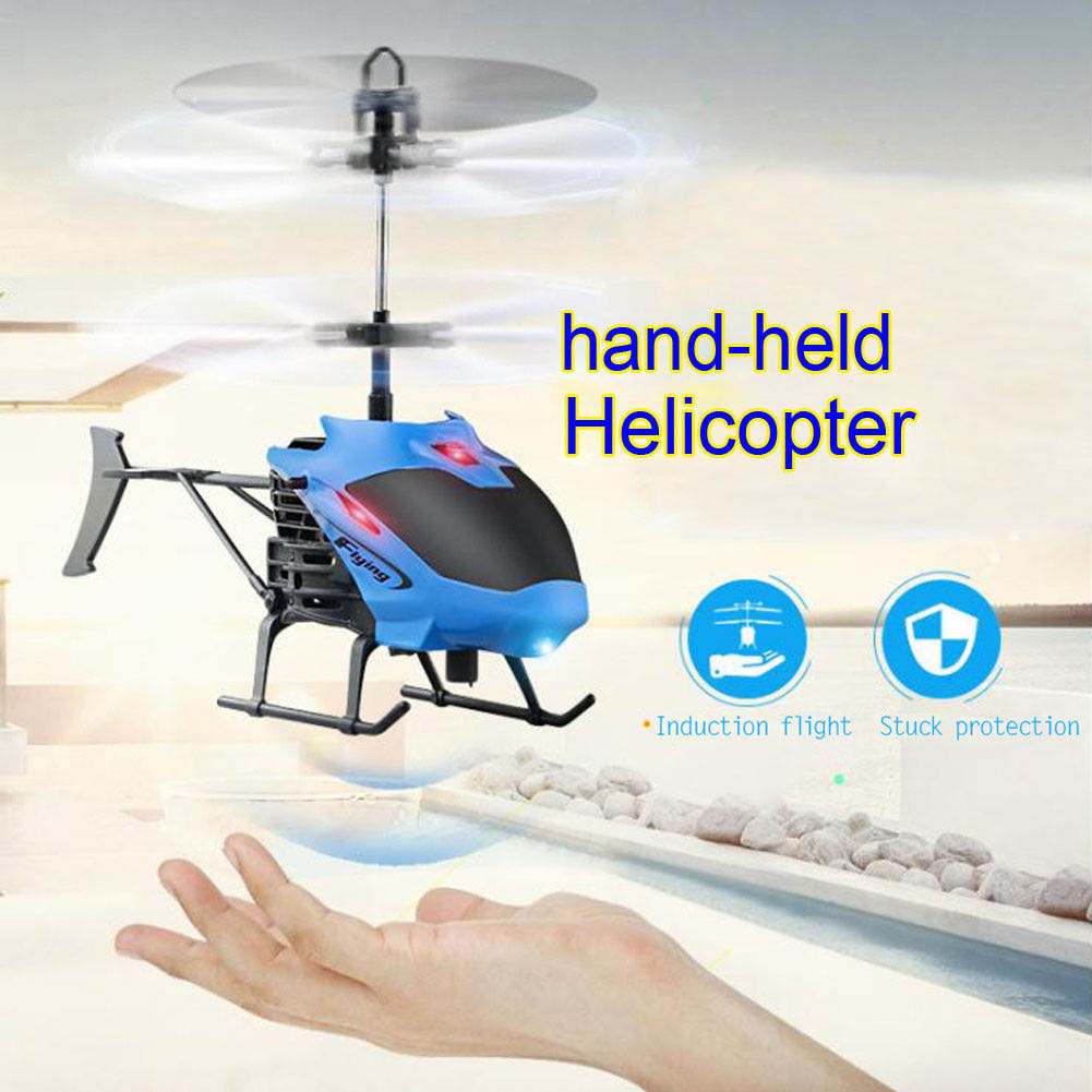 Mini font b Drone b font Aircraft RC Helicopter Gesture Induction Automatic Power Protection LED Flash