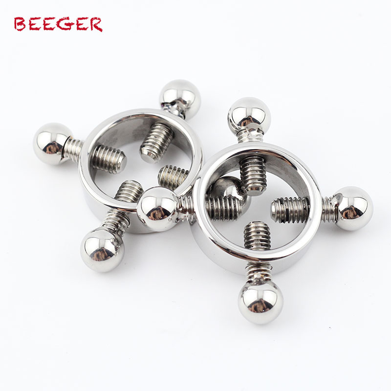 BEEGER Master Series Rings Of Fire Stainless Steel Nipple Clamp Set