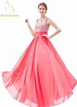 Bealegantom Real Photo Sexy A-Line Evening Dresses 2019 Formal Long Party Prom Gown Vestido Longo QA1031
