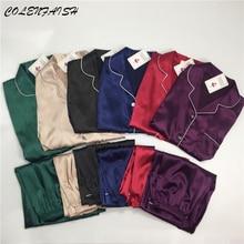 بيجامات حريمي مقاس كبير M 5XL بيجامة من الحرير جيب ملابس منزلية بيجامات سادة للنساء بيجاما فام بدلة منزلية بيجاما موجر