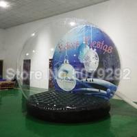 Beautiful inflatable snow globe factory price inflatable snow globe photo booth for sale high quality snow globe photo frame