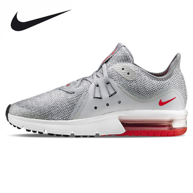 hot sale online 168f0 7c732 ... france nike air max sequent 3 mens running shoes light gray non slip  breathable e01e7 20154