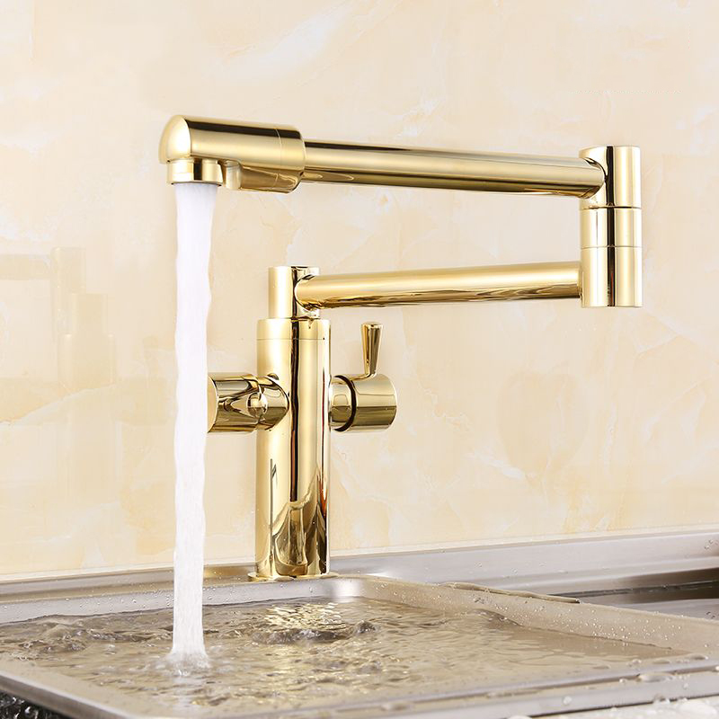 Здесь можно купить  Golden Sink Tap Luxury Fold 360 Degrees Rotation Double Handle Kitchen Antique Basin Faucet ,Brass  Строительство и Недвижимость