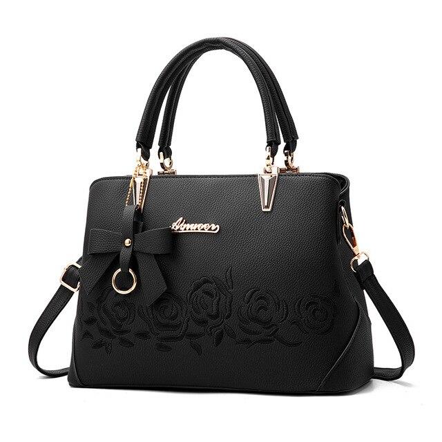 Женская сумка винтажная сумка повседневная сумка-тоут модные женские сумки через плечо топ-женская сумка-кошелек кожа 2019 Новый черный сини...