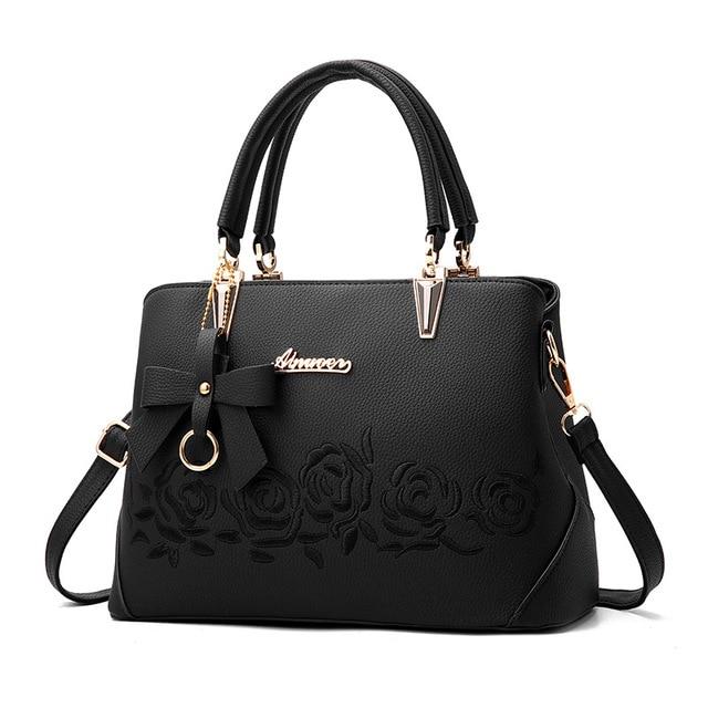 Le nouveau sac de messager d'épaule de sac à main motif croco rétro sac à bandoulière décontracté, noir