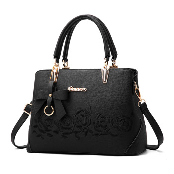 Women Bag Vintage Handbag Casual Tote Fashion Women Messenger Bags Shoulder Top-Handle Purse Wallet Leather 2018 New Black Blue Top-Handle Bags