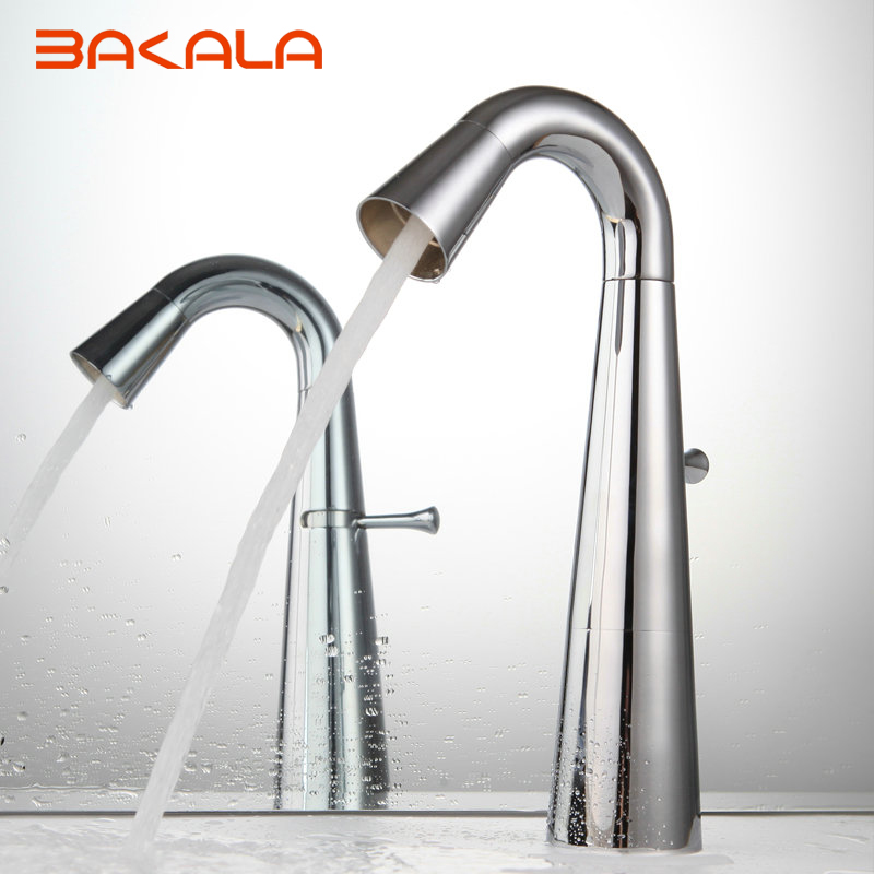 2017 BAKALA modern washbasin design Bathroom faucet mixer waterfall Hot and Cold Water taps for basin of bathroom F-6166 цена