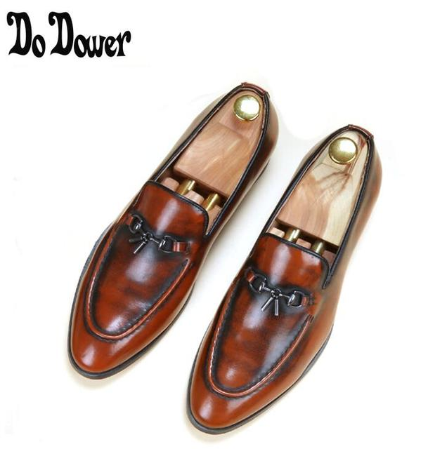 d59bb20c982e England brand design golden men wedding party formal dress soft genuine  leather shoes tassel teenage loafer driving shoe