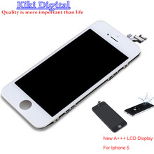 100% Guarantee A+++ LCD LCD Display For iPhone 5 Touch Screen digitizer wite Frame Assembly Free shipping