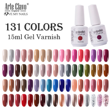 Arte Clavo 131 Colors Gel Polish Nail Gel Varnish Paint Semi Permanent Nails Art Gel Nail Polish For Manicure Top Coat Base Coat