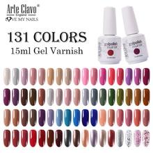 Arte Clavo esmalte de uñas en Gel 131 colores, esmalte de uñas en Gel artístico para manicura, capa superior y capa Base