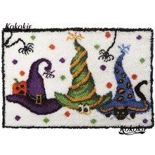 Halloween decor latch hook kits rug tapestry kits printed Handmade crochet tapis needle for carpet needle for carpet embroidery(China)