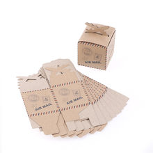 50PCS Airplane Gift Box Candy Box Kraft Paper Wedding Travel Theme Decoration Baby Shower Souvenirs Party Favors High Quality(China)