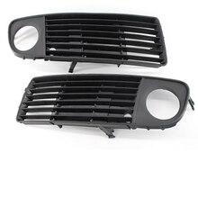 Front Left & Right Lower Bumper Fog Light Cover Vent Grille for Audi A6 C5 Avant Quattro 1998 1999 2000 2001 2002 4B0807682S