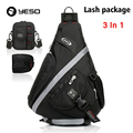 Casual Messenger Sling Bag 3 In 1 Men Travel Triangle Crossbody Shoulder Bags Multifunction Waterproof Oxford Bag Pack YESO