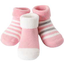 3 Pairs/lot Baby Socks Thick Warm Baby Newborn Cotton Socks Winter Boys Girls Sock Cute Toddler Kid  Terry Socks 10pairs pack newborn infant kids 0 3year socks new baby terry socks winter warm wholesale cartoon cotton boys girls