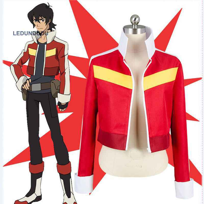 Anime Voltron Defender Of The Universe Cosplay Keith Red Short Jackets Casual Coat Costumes Halloween Party Outfits XS-3XL