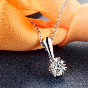 Image 3 - ファッション永遠に 1 石ペンダント純粋な 18 k 固体ホワイトゴールド結婚式の宝石認定 0.3 カラット