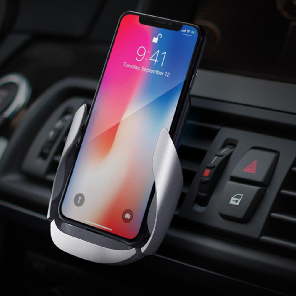 Wireless Car Charger Stand Mount Air Vent Phone Holder Qi 10W Fast Charger for IOS for Android Mobile Phones Bracket HolderWireless Car Charger Stand Mount Air Vent Phone Holder Qi 10W Fast Charger for IOS for Android Mobile Phones Bracket Holder