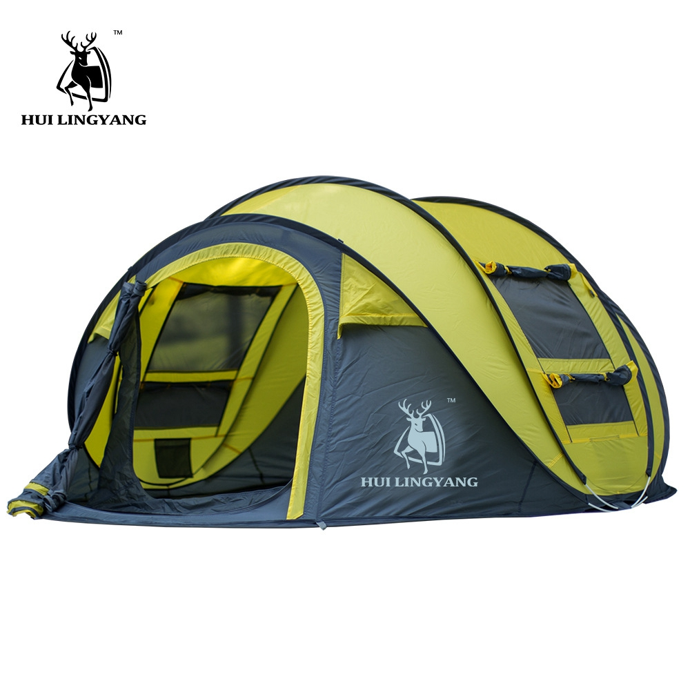HUI LINGYANG extérieur jeter tente tentes automatiques jeter Pop Up étanche Camping randonnée tente étanche grande famille tentes