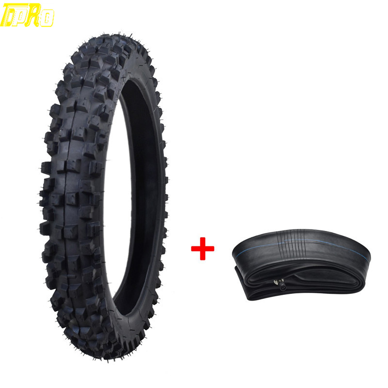 New Motorcycle Tire Tyre with Tube 2 50 14 60 100 14 Motocross Off Road Dirt