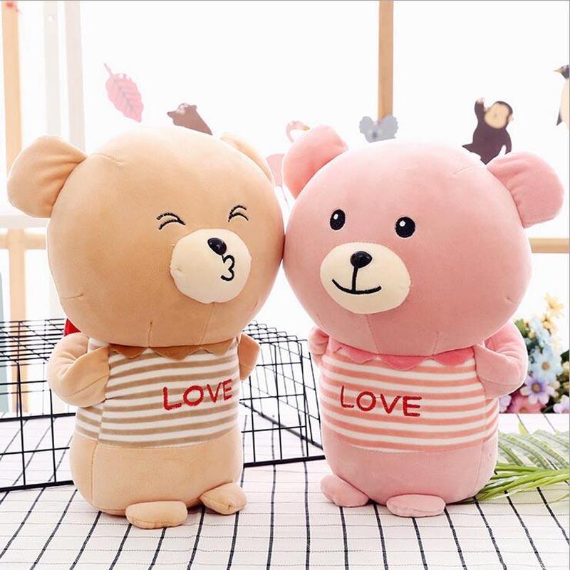 Couple Bear Hug the Heart Plush Toy Stuffed Animal Lovely Doll Toys Children Birthday Gift