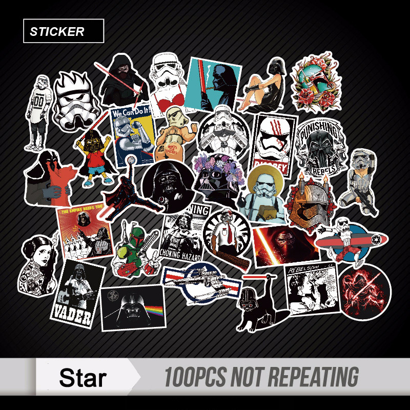 100pcs Mixed Star Wars Stickers Graffiti JDM Sticker for Kid DIY Skateboard Laptop Lugga ...